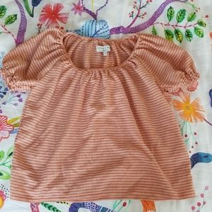 Madewell Creamsicle Boatneck Striped Blouse